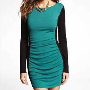 Express Rouched sweater dress!